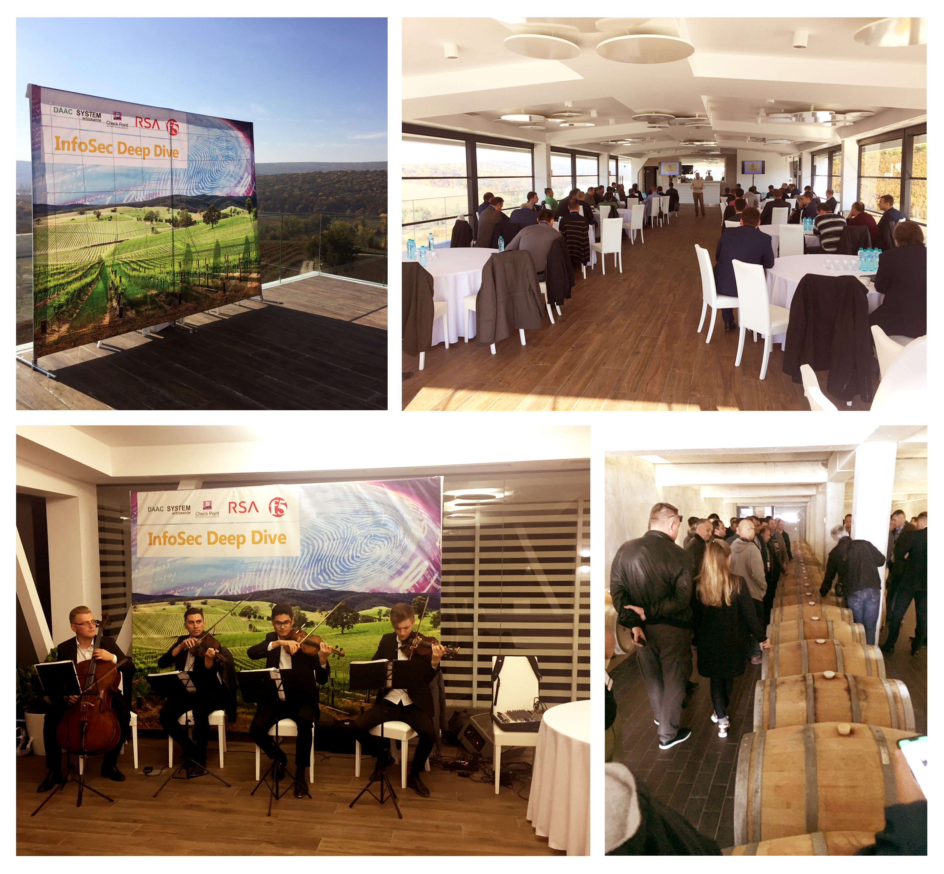 "InfoSec Deep Dive - Conference organized by DAAC System Integrator, CheckPoint, RSA and F5 at ""Poiana Winery"""